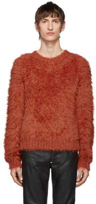 John Lawrence Sullivan Johnlawrencesullivan Orange Shaggy Crewneck Sweater