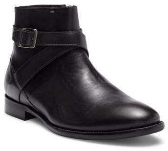 Bacco Bucci Violo Mid Buckle Leather Boot