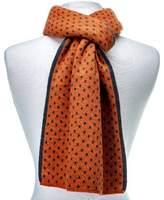 Noble Mount Mens Wool Blend Premium Scarf - Orange/Gray