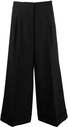 stagni 47 Flared Cropped-Leg Wool Trousers
