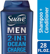 Suave Men 2 in 1 Shampoo and Conditioner Ocean Charge