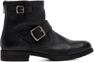 Frye Women's Casual boots BLACK - Black Tyler Engineer Leather Boot - Women