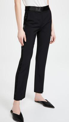 Victoria Victoria Beckham Slim Fit Wool Mohair Tuxedo Trousers