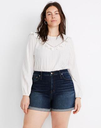 Madewell Curvy High-Rise Denim Shorts in Canterdale Wash