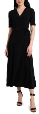 MSK Belted Jersey Midi Dress