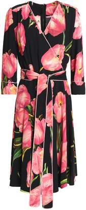 Dolce & Gabbana Floral-print Crepe Wrap Dress