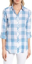 Foxcroft Women's Roll Tab Plaid Shirt