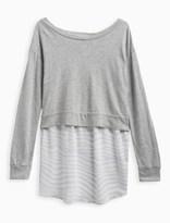 Splendid Girl Zebra Print Sweater