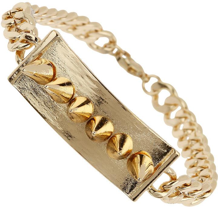 Topman Gold Spike Chain Bracelet