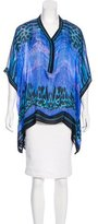 Roberto Cavalli Abstract Print Kaftan Top