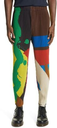 Homme Plissé Issey Miyake Big Brushstroke Pleated Crop Pants