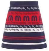 Miu Miu Striped wool-blend miniskirt