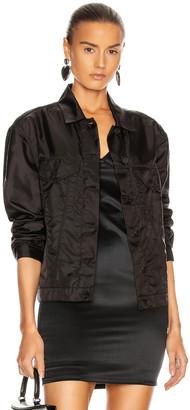 RtA Erika Oversized Boyfriend Jacket in Flight Black | FWRD