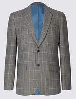 M&S Collection Wool Blend 2 Button Jacket