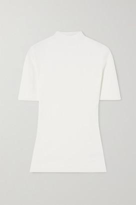 Theory Leenda Ribbed-knit Top - White