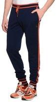 Stefano Ricci Contrast-Trim Drawstring Jogging Pants, Navy
