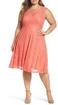 Soprano Plus Size Women's Lace Skater Dress