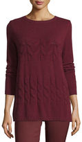 Lafayette 148 New York Cable-Knit Cashmere Crewneck Sweater