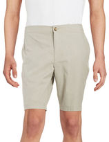 Black Brown 1826 Striped Cotton Shorts