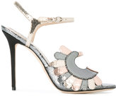 Paula Cademartori metallic stiletto sandals - women - Leather/Satin - 36