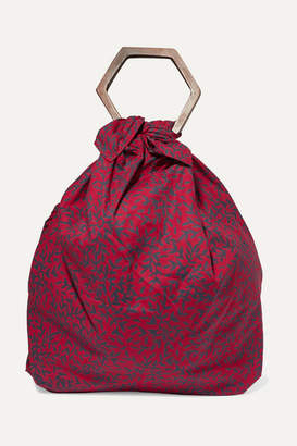 Kayu Net Sustain Kamber Printed Cotton-voile Tote - Red