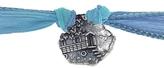 Catherine Michiels La Roulotte Silver Charm & Silk Bracelet Wrap