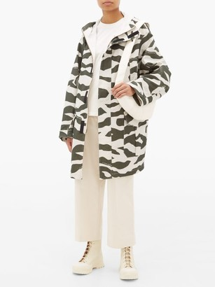 Phipps - Camouflage-print Cotton-blend Coat - Womens - White Multi