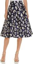Eliza J Pleated Floral Print Skirt