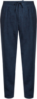 Ermenegildo Zegna Pleated-front linen straight-leg trousers
