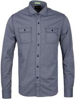 Replay Denim Blue Fine Pattern Long Sleeve Shirt