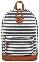 Mossimo Women's Stripe Backpack Handbag Navy