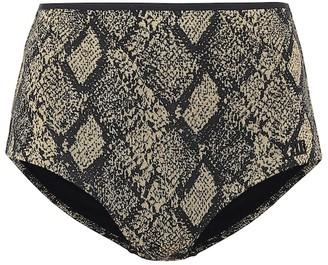 Solid & Striped The Brigitte snake-effect bikini bottoms