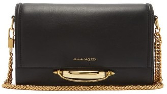 Alexander McQueen The Story Leather Shoulder Bag - Black Multi