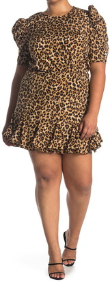 Veronica Beard Lila Puff Sleeve Silk Blend Mini Dress
