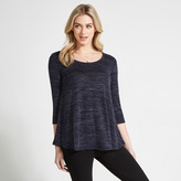 Apricot Navy Fuzzy Marl Swing Top