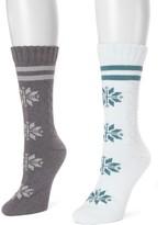 Muk Luks Women's (2-Pair Pack) Boot Socks