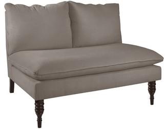 Skyline Furniture Caroline Settee Upholstery: Smoke