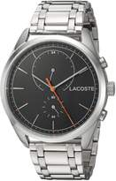 Lacoste Men's 'SAN DIEGO' Quartz Stainless Steel Casual Watch, Color:Silver-Toned (Model: 2010918)