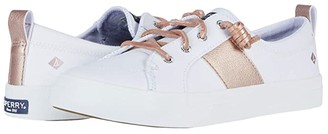 Sperry Crest Vibe Metallic Synthetic Leather (White/Blush) Women's Shoes