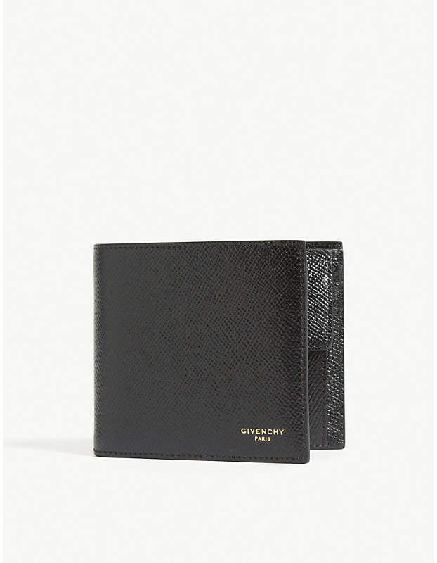 Givenchy Pebbled leather billfold wallet