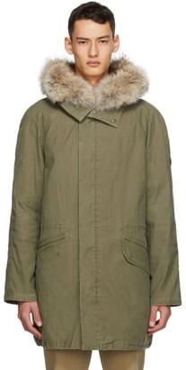 Yves Salomon Army Khaki Fur Parka