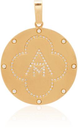 Ashley McCormick Monogram 18K Gold and Diamond Necklace