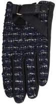 Karl Lagerfeld Blue Tweed Gloves