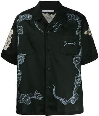 Givenchy Snake & Icarus Hawaiian shirt