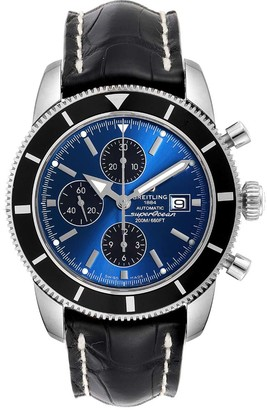 Breitling Blue Stainless Steel SuperOcean Heritage Chrono A13320 Men's Wristwatch 46 MM
