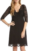 Karen Kane Women's Scalloped Lace V-Neck Dress