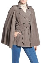 Olivia Palermo + Chelsea28 Suede Trench Vest with Removable Cape