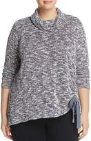VINCE CAMUTO Plus Side-Tie Turtleneck Sweater