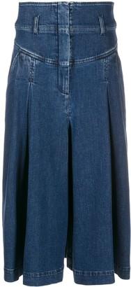 Alberta Ferretti Swing Midi Denim Skirt