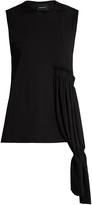 Simone Rocha Draped-panel sleeveless jersey top